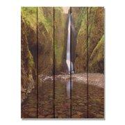 Day Dream HQ RF1624 16 x 24 in. Reflection Falls Inside & Outside Cedar Wall Art