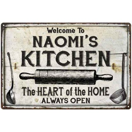 Naomi S Kitchen Farmhouse Sign Gift Personalized 8x12 Metal 208120033277