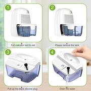 Dehumidifier 500ml Electric Low-noise Air Damp Dryer Home Portable Mini Dehumidifier US Plug - image 9 of 10