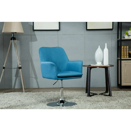 Porthos Home Fabric Pedestal Swivel Office Desk Chair with Padded Arms and Adjustable Height, Easy Assembly ()