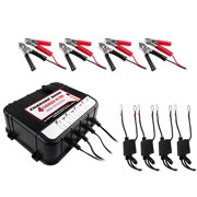 Float Charger/Tender for Auto & Marine Battery 4 Bay 6/12v 2A
