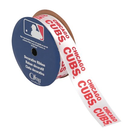 Offray Ribbon Chicago Cubs Mlb 7 8 Inches X 9 Feet