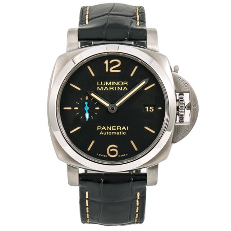 Panerai Marina - Pre-Owned Panerai Luminor Marina 1950 PAM01312 Steel 44mm  Watch (Certified Authentic & Warranty)