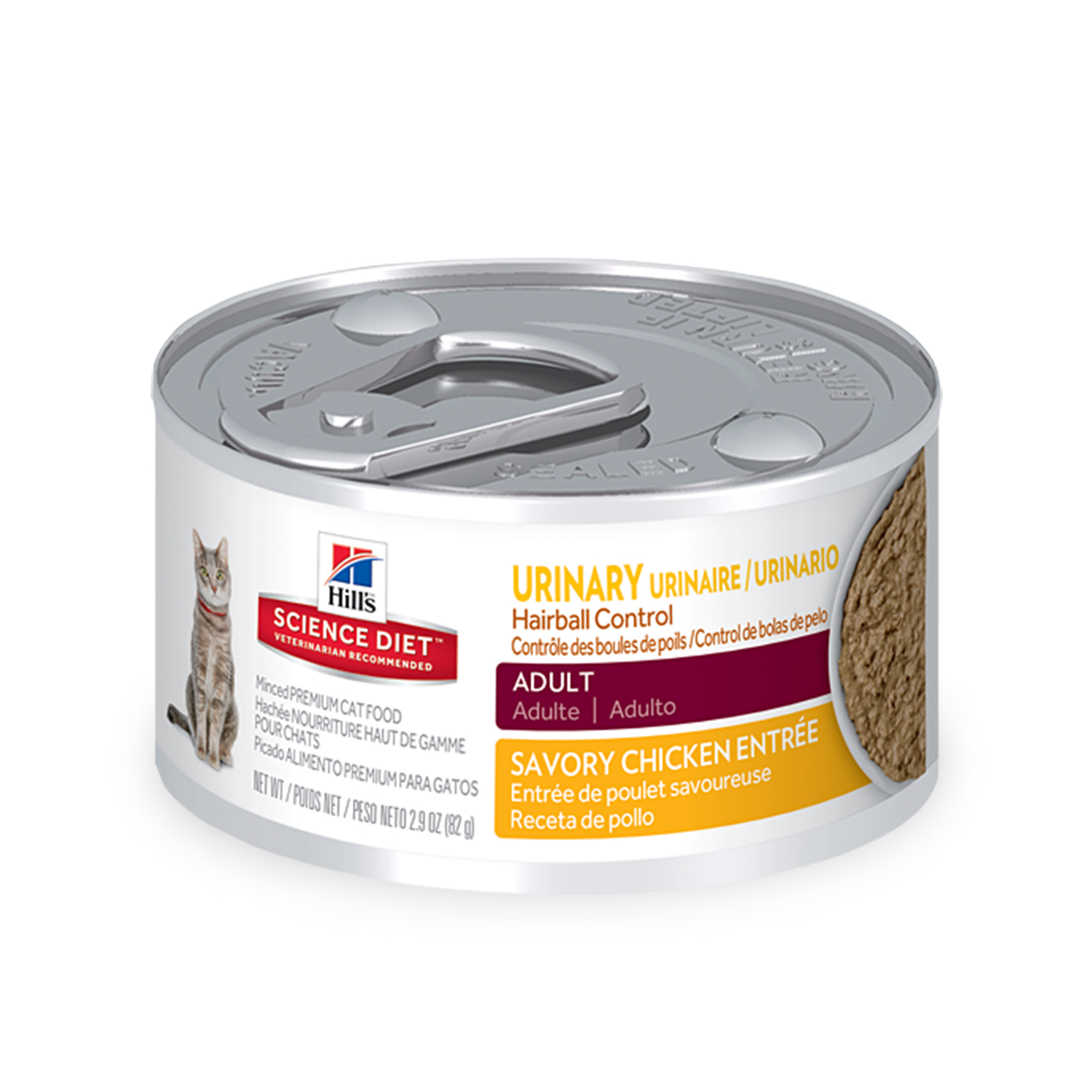 Hill's Science Diet (Spend $20, Get $5) Adult Urinary & Hairball Control Wet Cat Food, 2.9 oz, 24-pack (See description for rebate details)