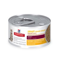 Hill's Science Diet Adult Urinary & Hairball Control Canned Cat Food, Savory Chicken, 2.9 oz, 24 Pack wet cat food