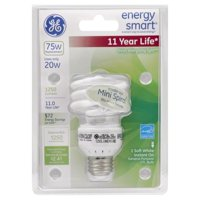 GE 72880 - FLE20HT2/2/XL/CD Twist Medium Screw Base Compact Fluorescent Light Bulb