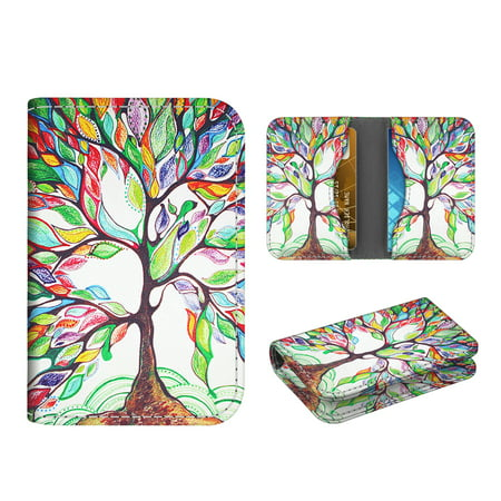 Business Card Holder Case, Fintie Vegan Leather Folio RFID Blocking Credit Cards ID Card Wallet Organizer, Love Tree
