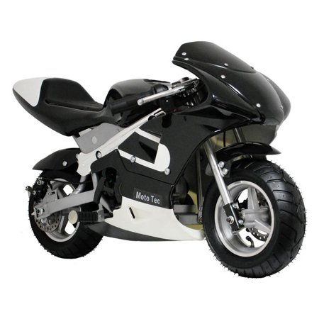 Mototec Gas Pocket Bike Riding Toy   Black