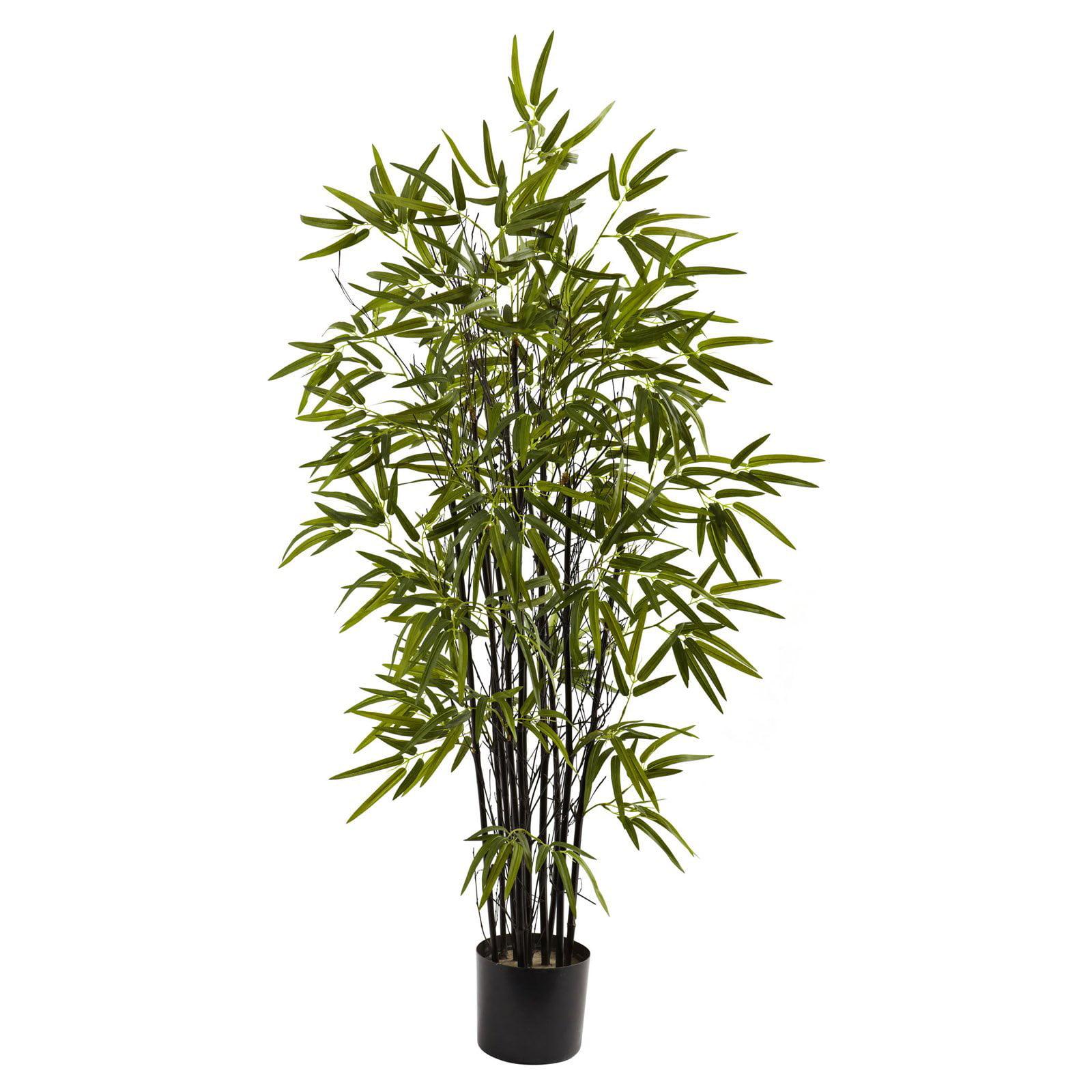 Nearly Natural 4' Black Bamboo Tree