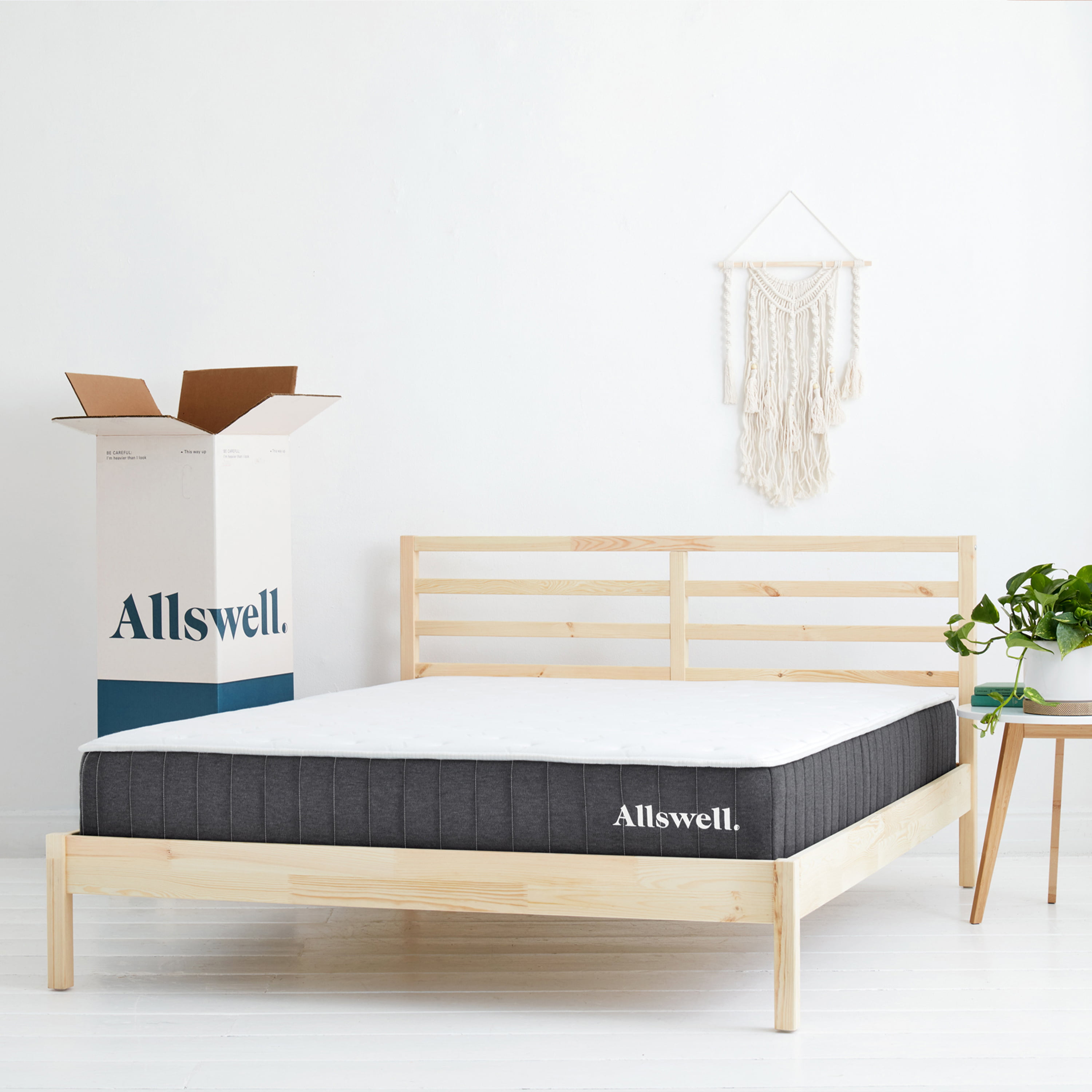 The Allswell 10 Inch Bed In A Box Hybrid Mattress King Walmart
