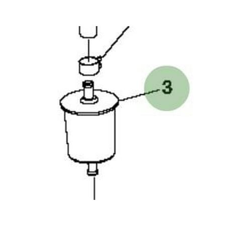 John Deere Original Equipment Fuel Filter #AM136739, OEM