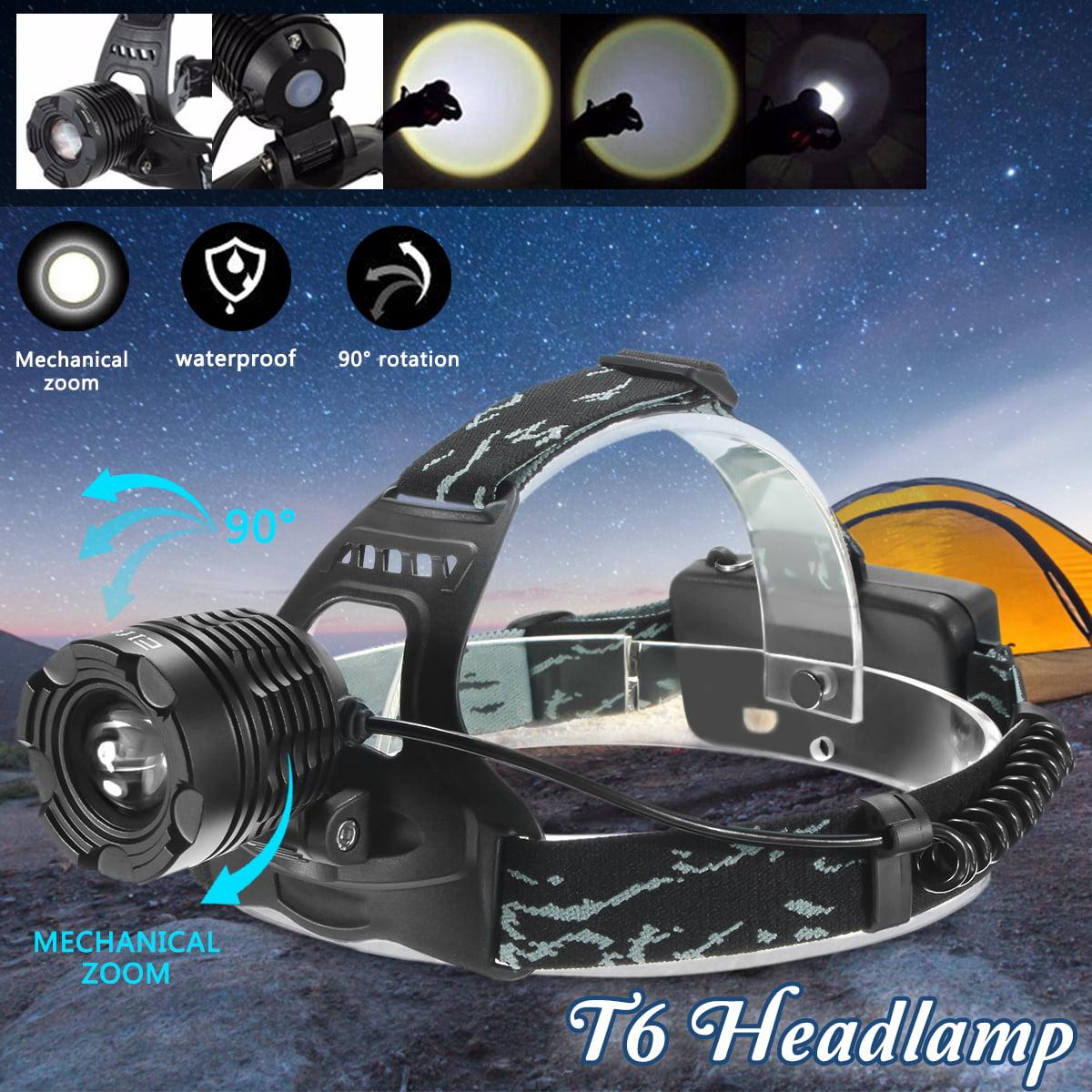 Elfeland 3500 Lumen T6 LED Zoomble Headlight Headlamp Flashlight Torch Waterproof 3 Modes For Hiking Camping Riding Fishing