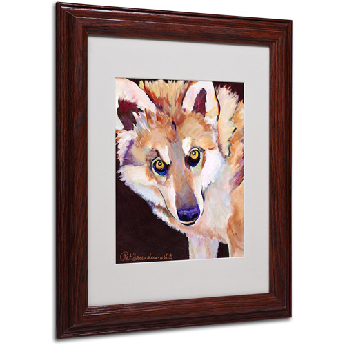 "Trademark Fine Art ""Night Eyes"" Matted Framed Art by Pat Saunders"