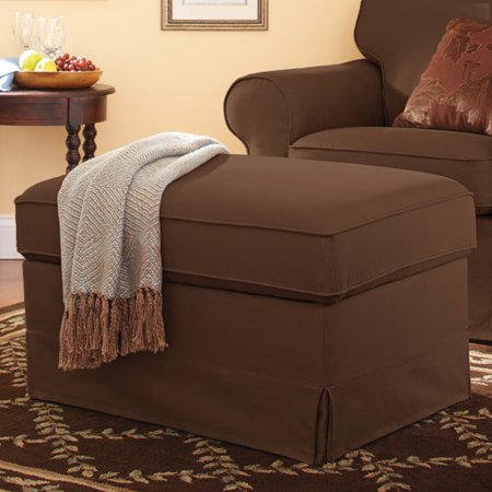 Better Homes and Gardens Slip Cover Storage Ottoman, Multiple Colors - Better Homes And Gardens Slip Cover Storage Ottoman, Multiple
