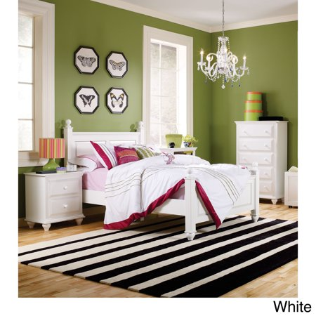 lang furniture twin size four poster bed frame. Black Bedroom Furniture Sets. Home Design Ideas