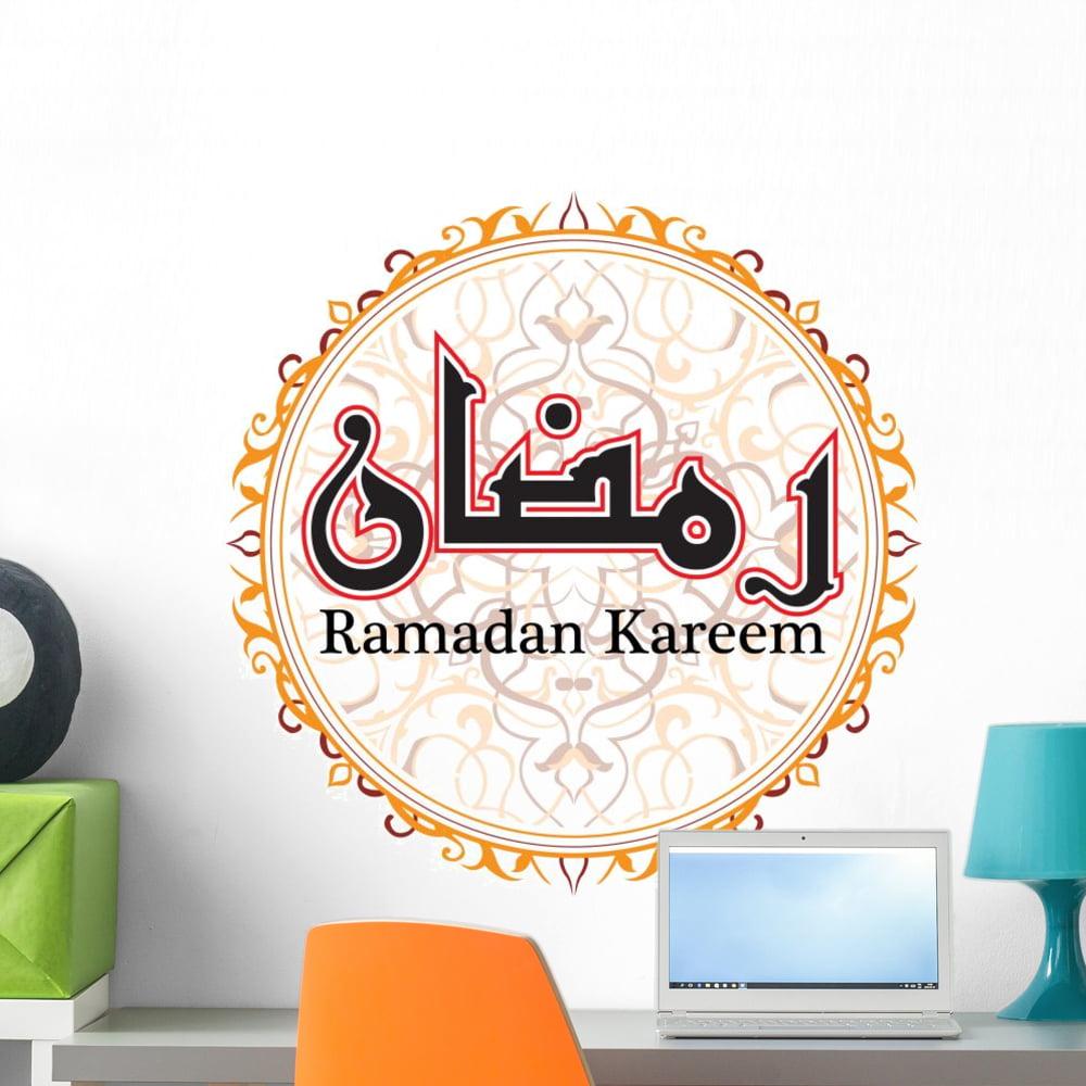 Ramadan Kareem Circular Illustration Wall Decal by Wallmonkeys Peel and Stick... by Wallmonkeys Decals