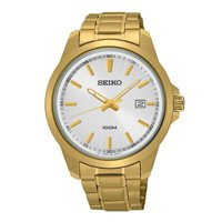 Seiko Silver Dial Gold-Tone Stainless Steel Men's Watch