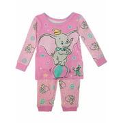 Disney Infant Girls Pink Dumbo & Timothy Pajamas Baby Elephant Sleep Set