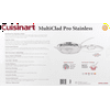 "Cuisinart Multiclad Pro Tri-Ply Stainless Steel 12"" Skillet W/Helper & Cover"