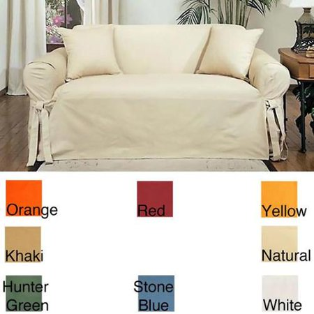Cool Cotton Duck Casual Fit Loveseat Slipcover Stone Blue Gamerscity Chair Design For Home Gamerscityorg