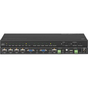 KanexPro 6-Input Collaboration Switcher & Scaler with 4K HDMI Output - Functions: Video Scaling, Audio De-embedding, Video Switcher - 1920 x 1200 - VGA - Audio Line In - Audio Line Out Input Digital Switcher Scaler