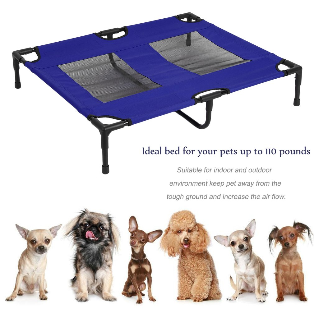 Portable Pet Bed Large Indoor Outdoor Dog Sleep Bed Dog Elevated Furniture