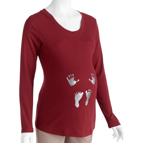 Maternity Hands & Feet Long-Sleeve Graphic Tee