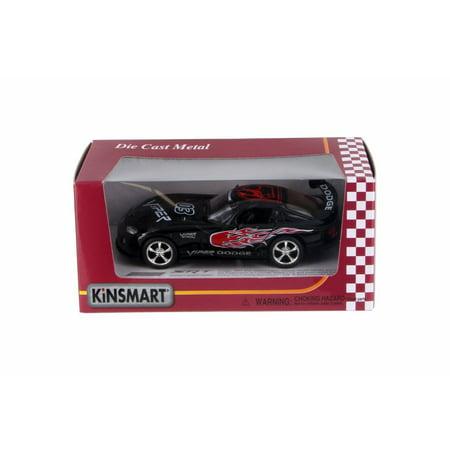 Dodge Viper Race Car #03 w/ decals, Black - Kinsmart 5039FWBK - 1/36 Scale Diecast Model Toy Car (Viper Race)