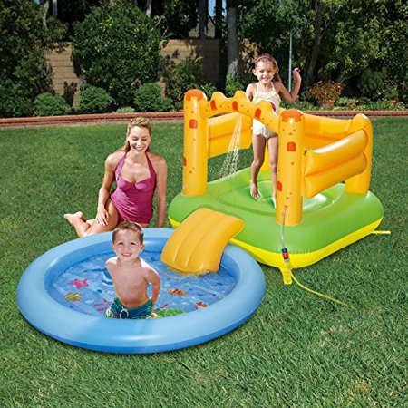 Summer Waves Inflatable Sand Castle Play Center With
