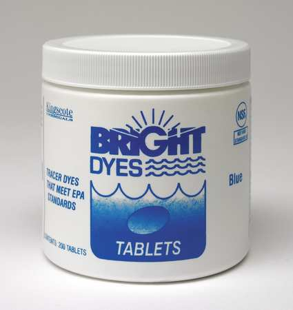 BRIGHT DYES 101102 Dye Tracer Tablet,Blue,PK 200