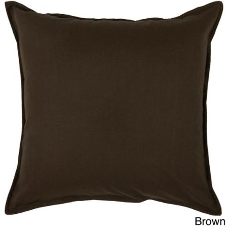 Rizzy Home 20-inch Solid Throw Pillow Brown - Walmart.com
