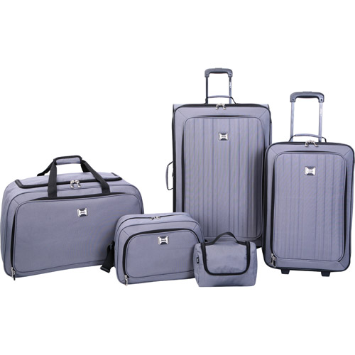 Jeep Value 5-Piece Luggage Set, Gray