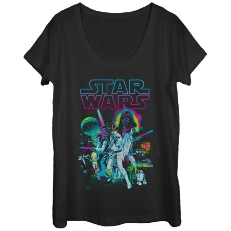 Star Wars A New Hope Womens Graphic Scoop Neck