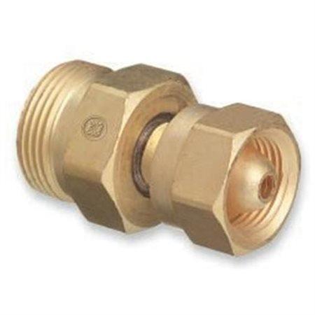 "Brass Cylinder Adaptors, From CGA-200 ""MC"" Acetylene To CGA-520 ""B"" Tank"