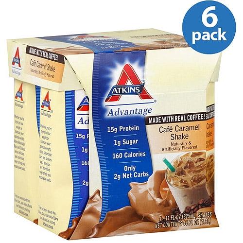 Atkins Advantage Cafe Caramel Shakes, 11 oz, (Pack of 6)