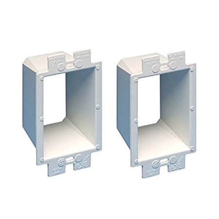 Power Outlet Box - iMBAPrice BE1-2 (1-Gang) Electrical Power Outlet Box Extender - White, 2-Pack (Made in USA)