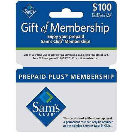 Sam S Club 100 Membership Gift Card