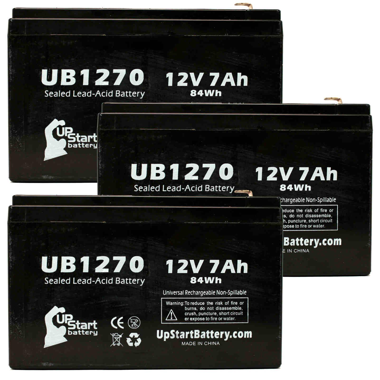 UpStart Battery 3x Pack - Panasonic LCR4512P Battery Repl...