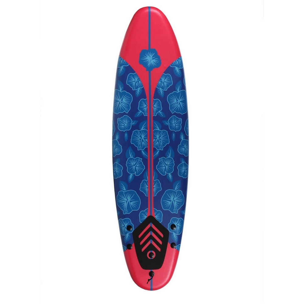 North Gear 6 ft Foam Surfboard Blue/Red - Walmart.com
