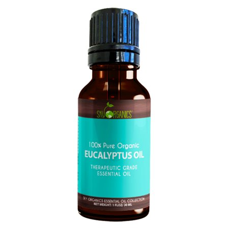Best Eucalyptus Essential Oil By Sky Organics-100% Organic, Therapeutic Oil For Diffuser, Aromatherapy, Massage Oil, Allergies, Headaches, Joint Pain - Scented Oil For Candles & DIY (Best Oil For Perineal Massage)