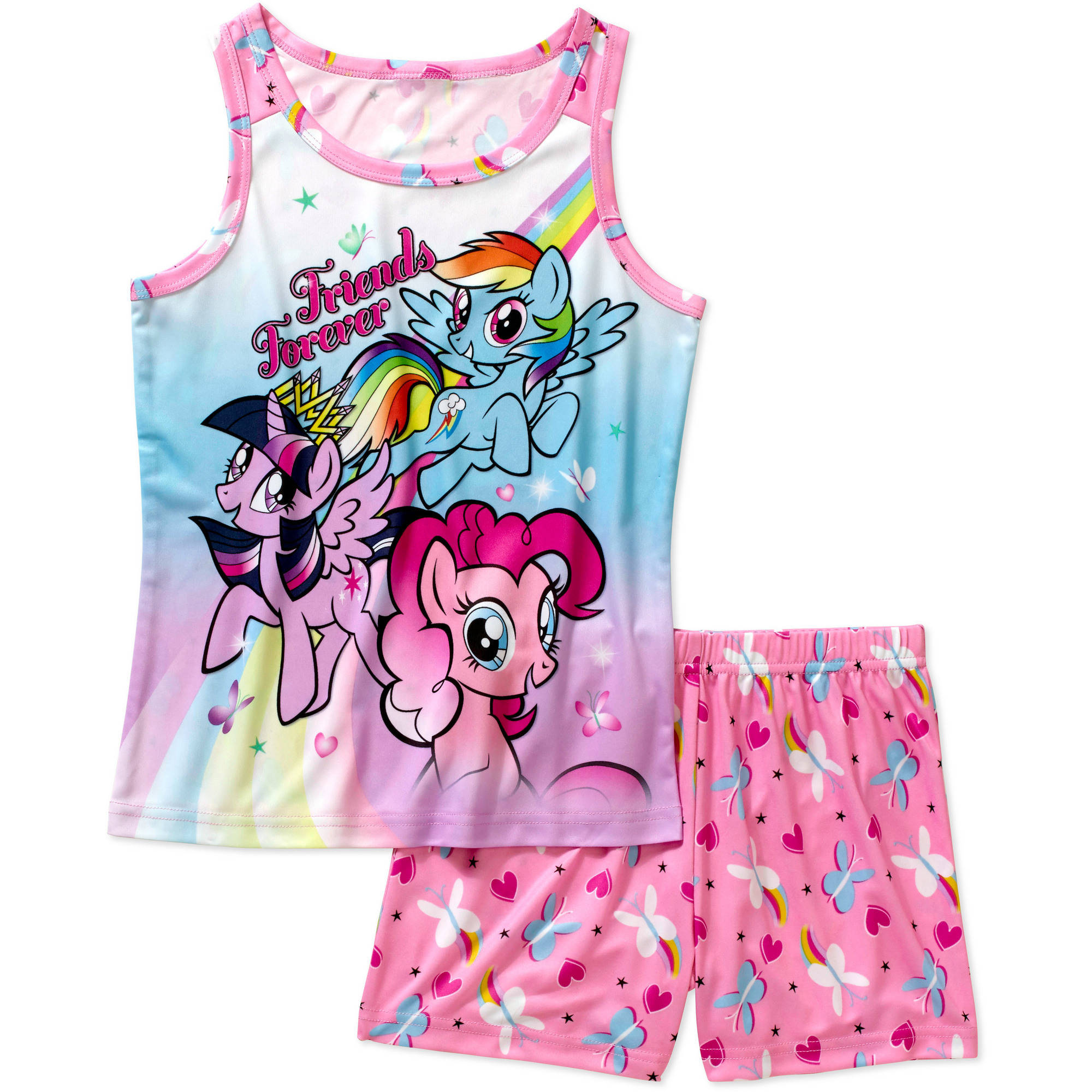 My Little Pony Tank Sleep Top and Shorts 2 Piece Pajma Set