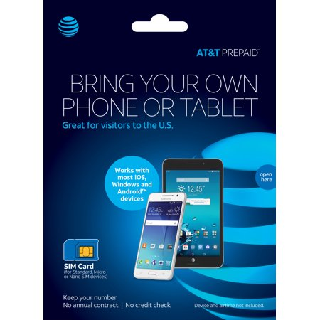 AT&T PREPAID℠ SIM Kit - UNLIMITED HIGH-SPEED DATA - 3 LINES FOR $100/MO. Details
