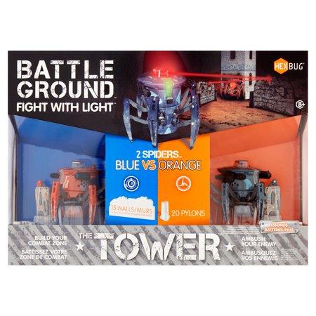 Hexbug The Tower Battle Ground Fight With Light Spider