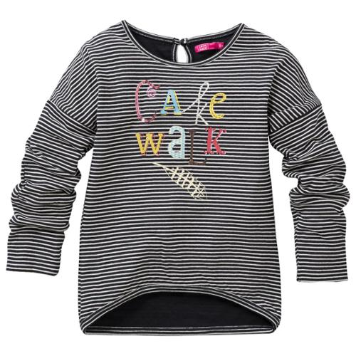 CakeWalk Little Girls Grey Kolina Long Sleeve Tee 2-6Y