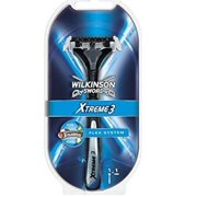 Wilkinson Sword Xtreme3 Razor Handle w/ 2 Refill Razor Blades (Same As Schick Xtreme 3 Razor) + Makeup Blender
