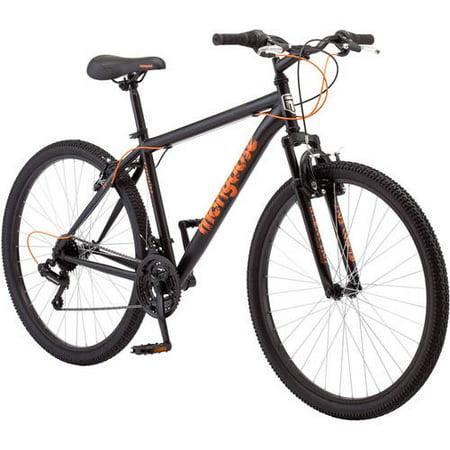 "27.5"" Mongoose Excursion Men's Mountain Bike, Black/Orange"