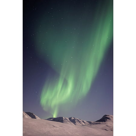Northern Promotions Framed Art (Framed Art For Your Wall Cold Northern Lights Landscape Aurora Borealis 10x13 Frame )