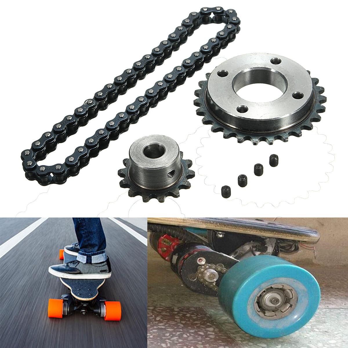 Electric Skateboard Replace Part Sprocket Chain Wheel DIY Set For Longboard