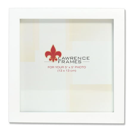 5x5 White Wood Picture Frame - Gallery Collection - Walmart.com