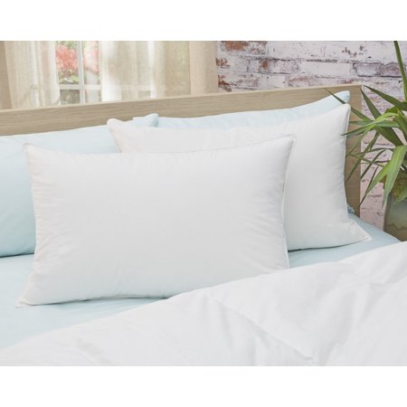 Image of Amberly Bedding 650 Fill Power White Down Pillow - Medium Fill King Size Twin Pack